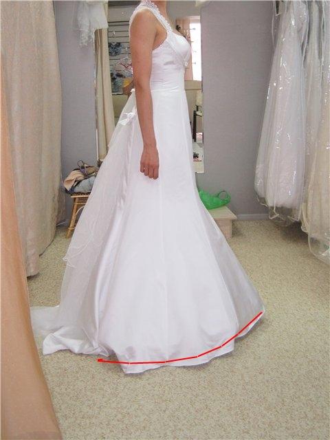 Подшить платье невесте