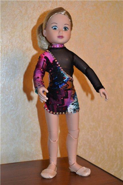 Как сделать купальник гимнастический для куклы