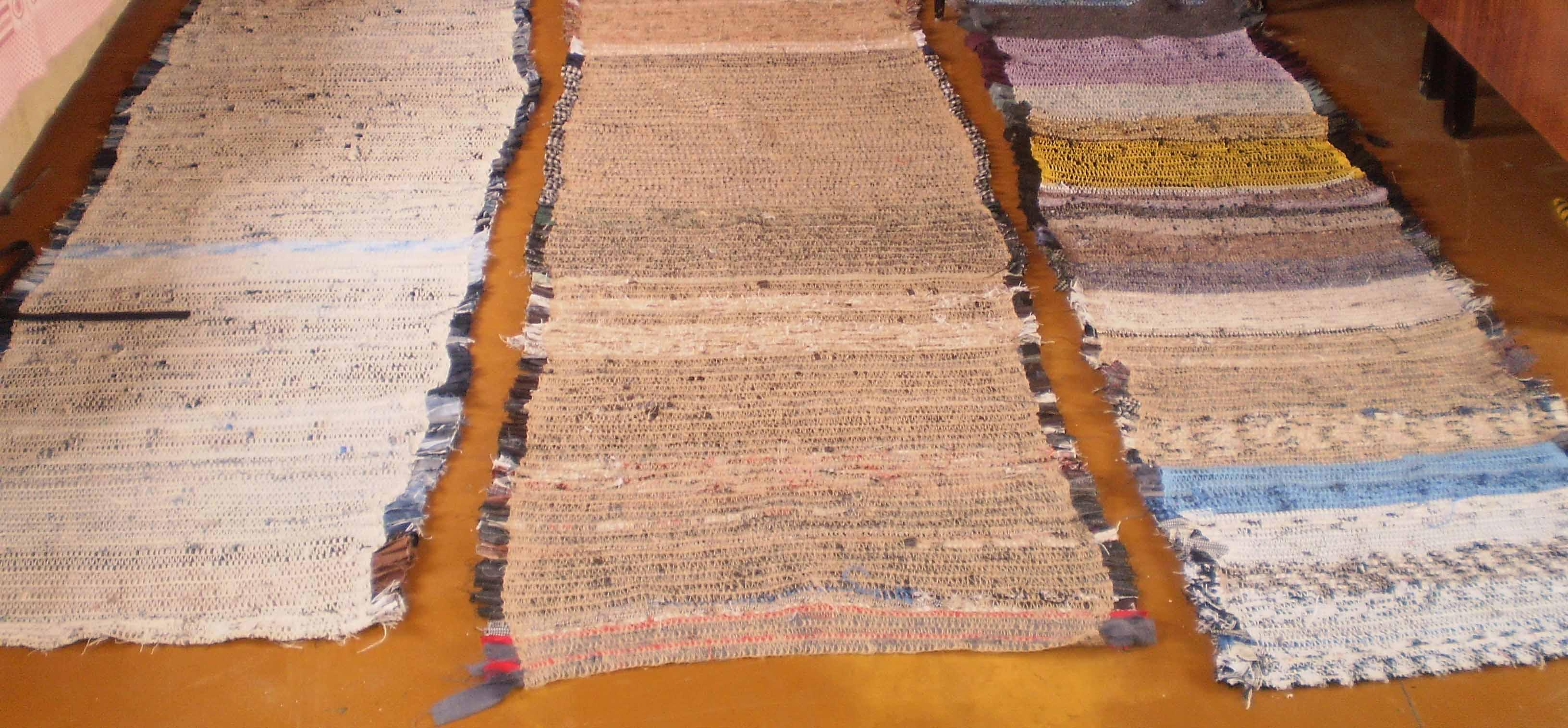 Как сшить коврик из старых пальто