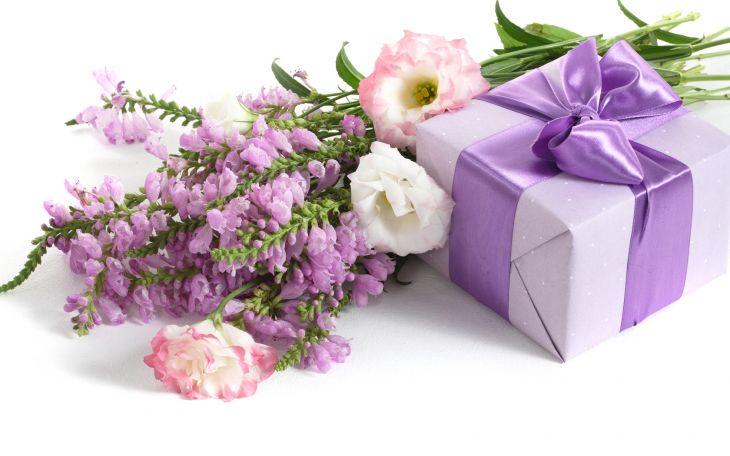 Открытка с днем рождения коробка с цветами