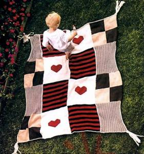 Одеяло вязаное