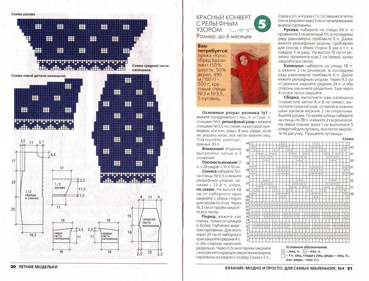 мешок для сна для грудничка схемы для вязания