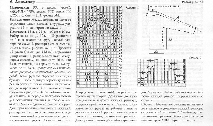 Схемы вязания спицами свитер реглан круговыми спицами