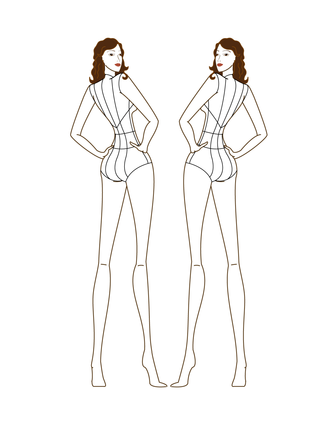 How to draw figures for fashion design 10