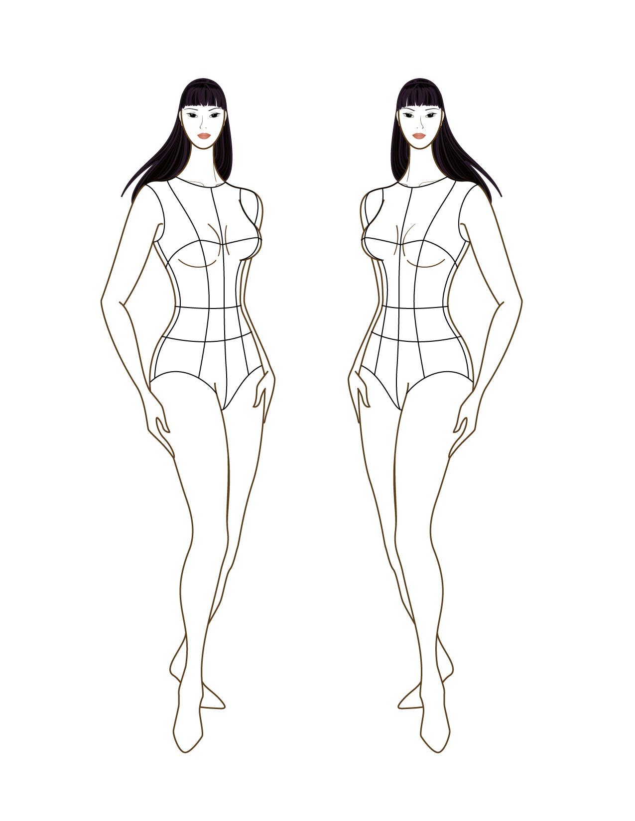 Blank fashion design templates 41