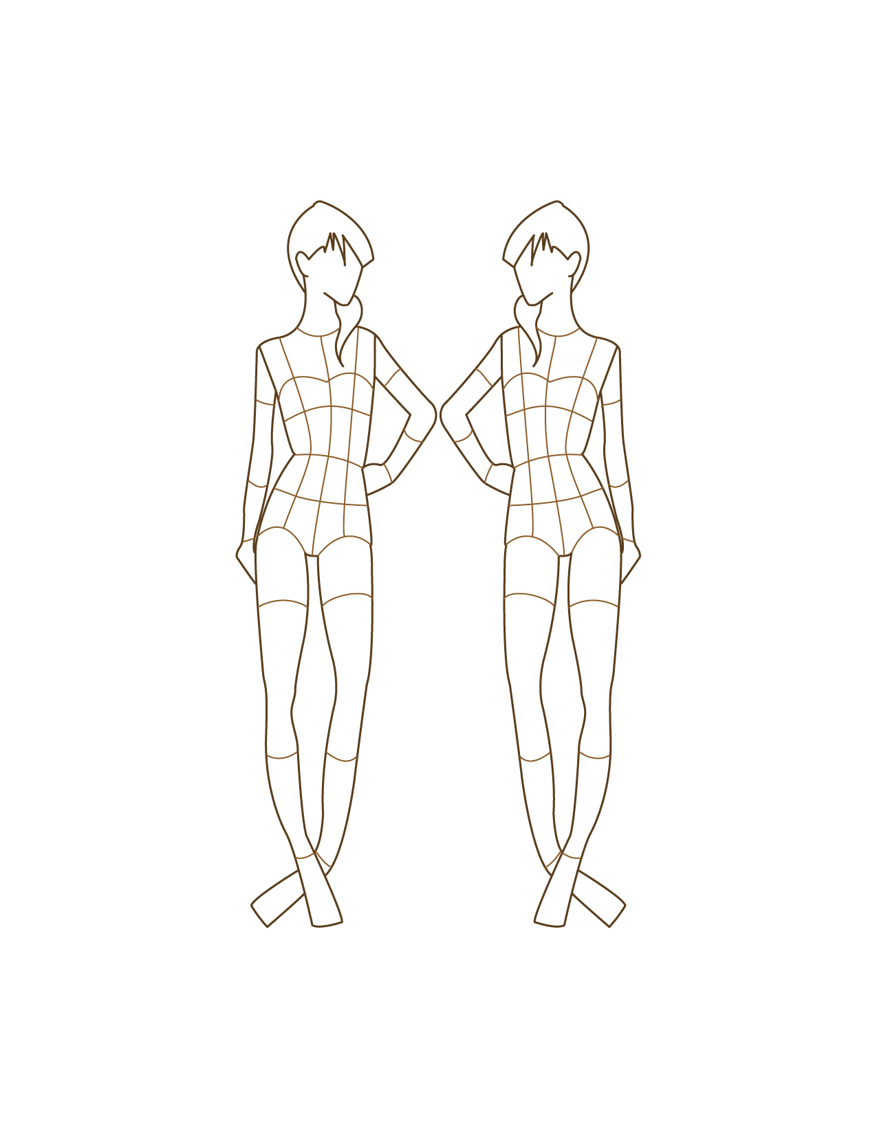 Children fashion figure templates 21