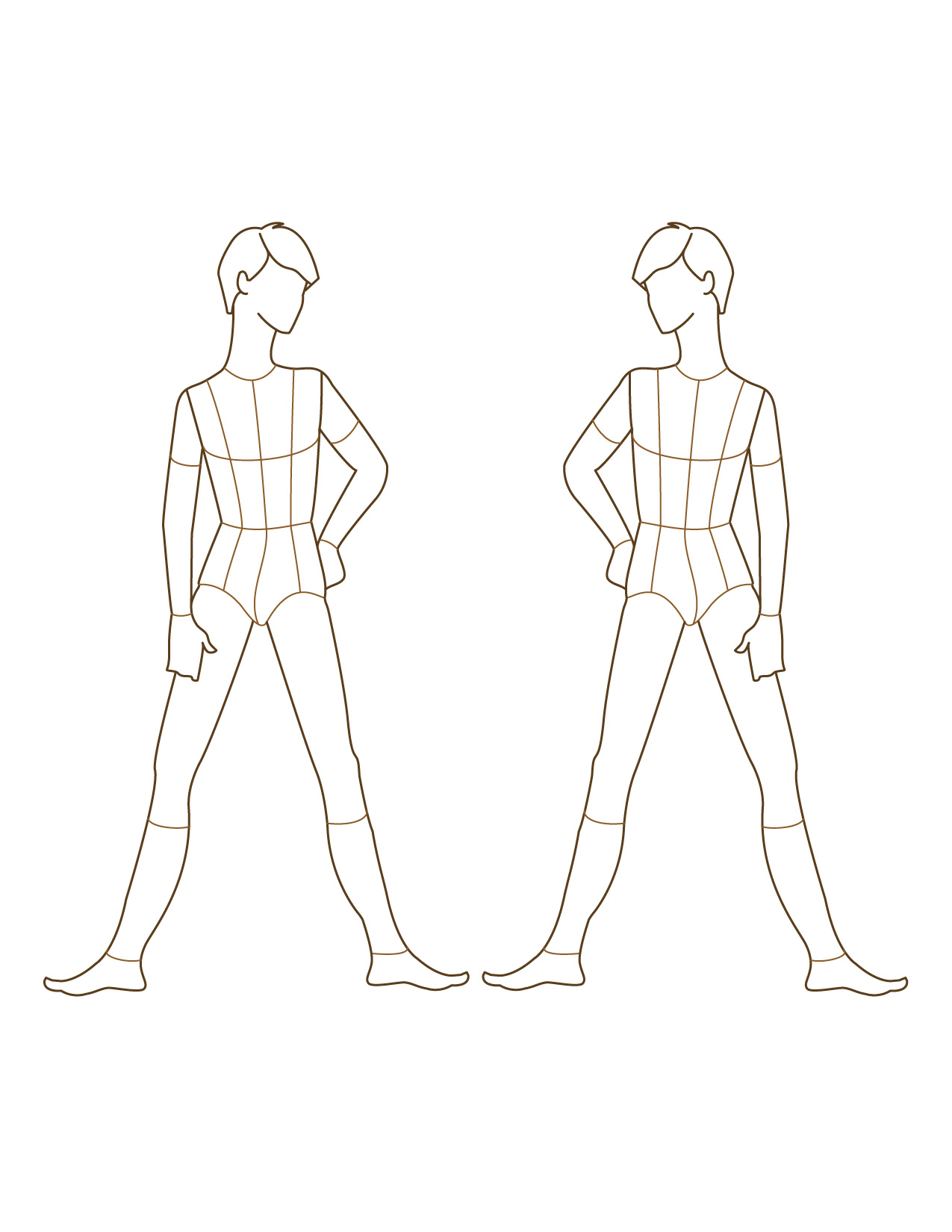 Children fashion figure templates 50