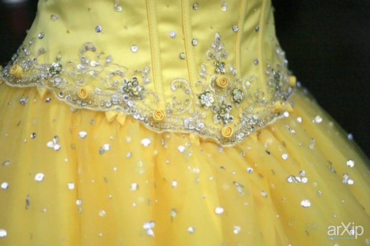 Платье украсить пайетками