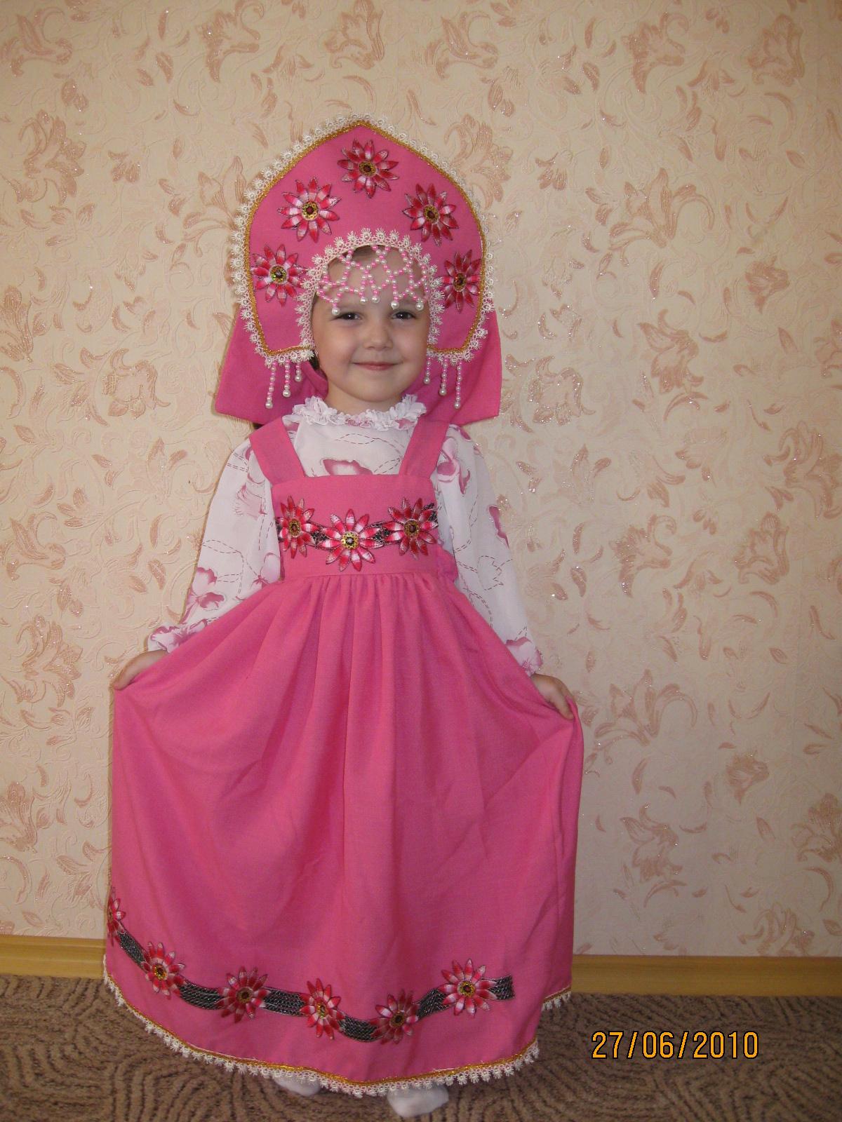 Русский народный костюм для девочки своими руками фото