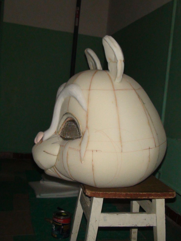 Как сделать голову из поролона