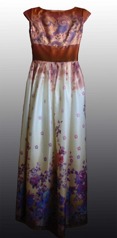 Сшить платье шёлковое 87
