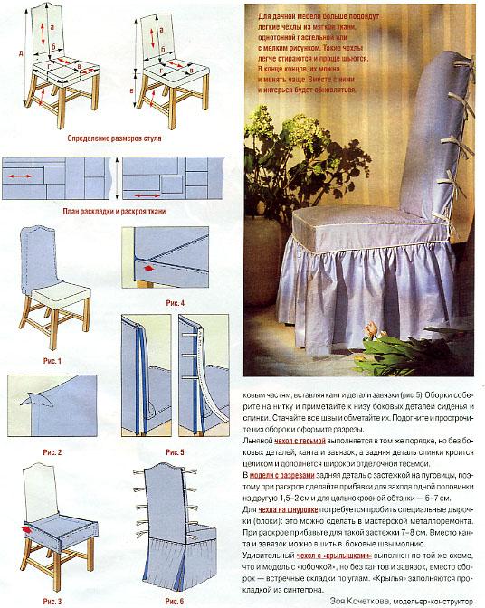 Банты на стулья схема