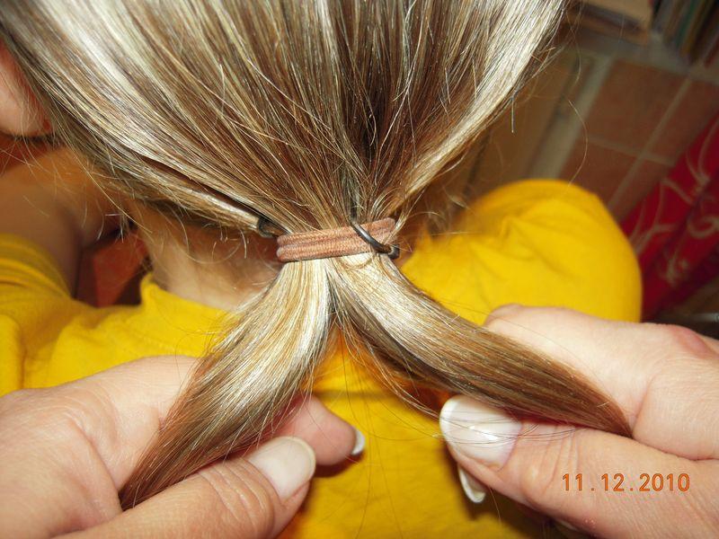 Фото как делать шишку на волосах