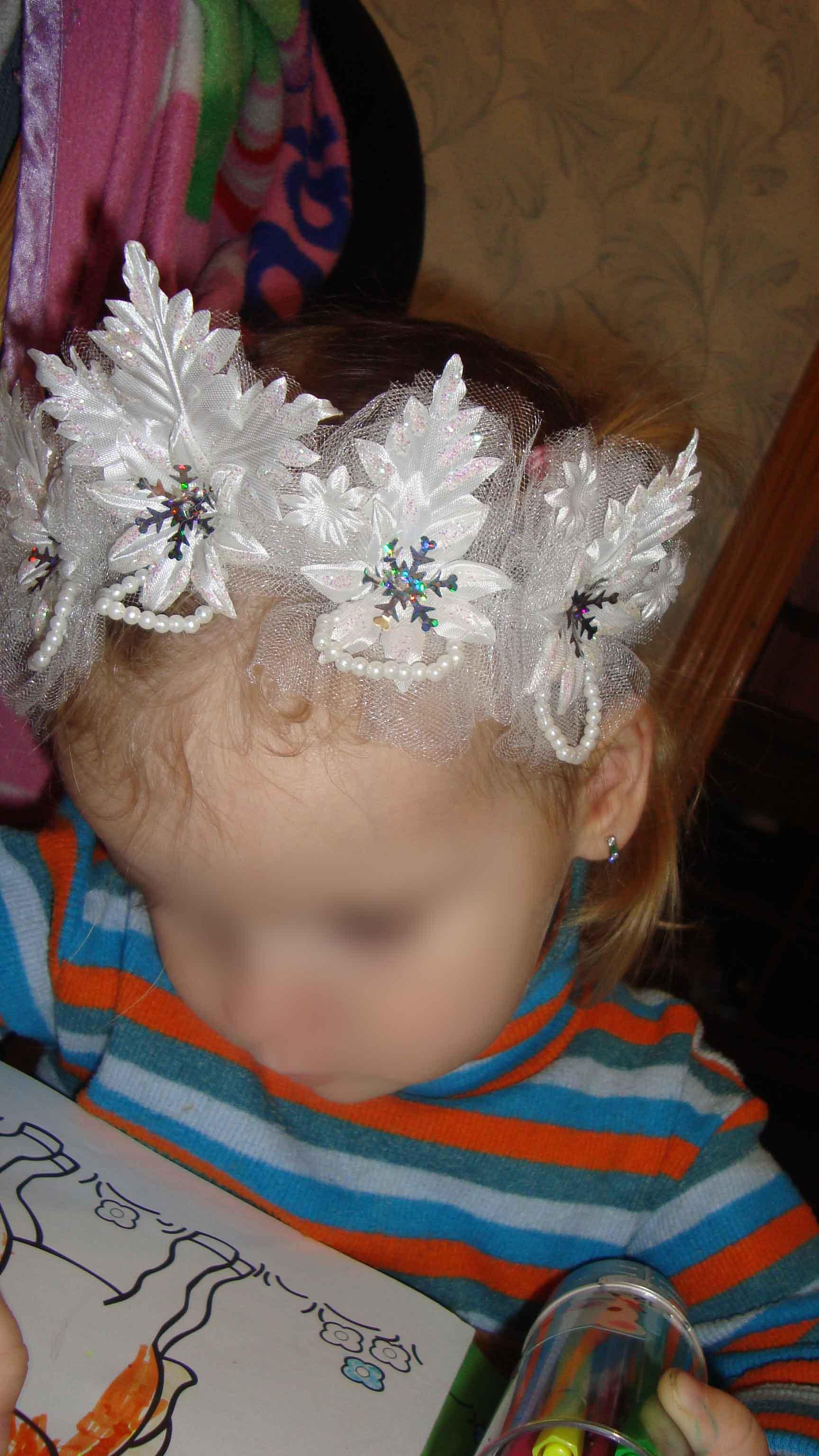 Корона снежинки для девочки своими руками мастер класс