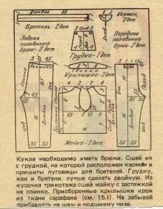 Выкройки из старых календарей
