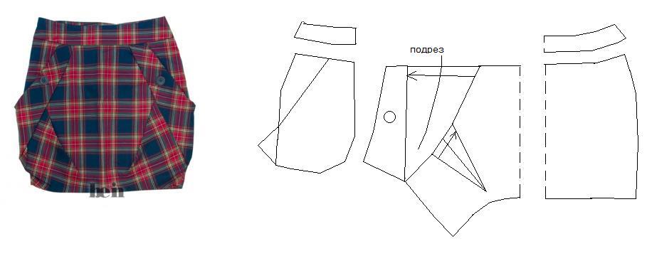 Как сшить юбку фонарик