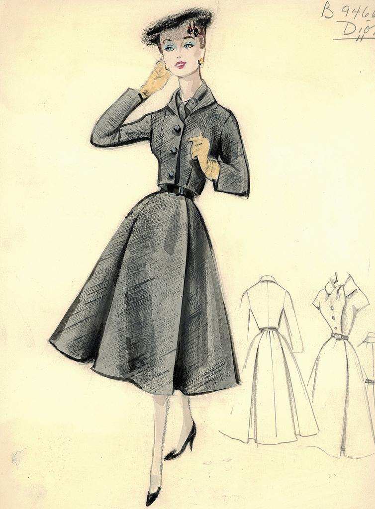 Эскизы одежды в стиле винтаж