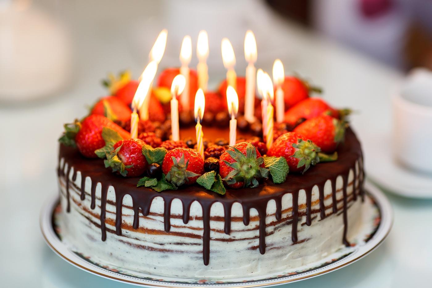 Картинки с тортом к дню рождения