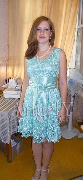 Сшить платье из кружевного полотна на подкладе своими руками