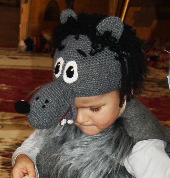 Волка шапка связать