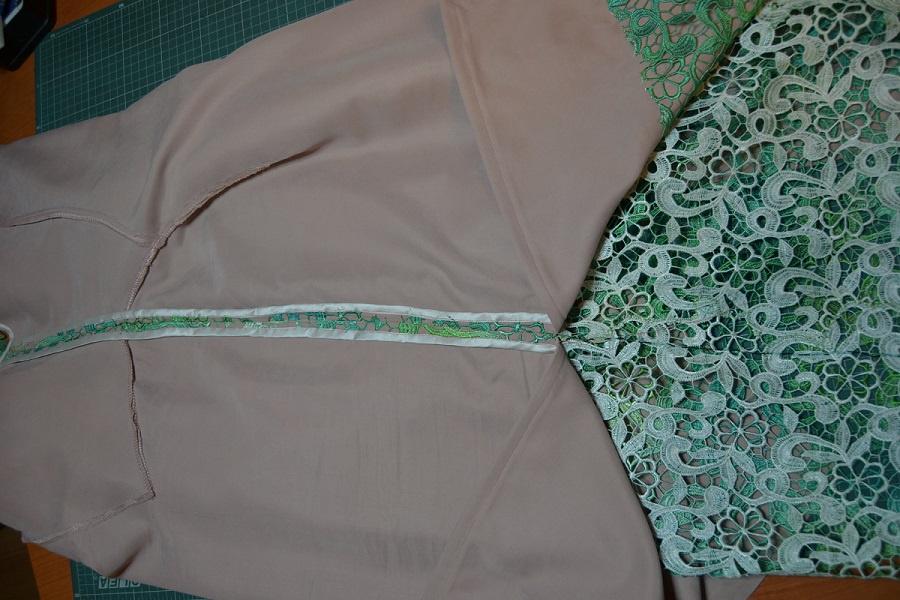 Пошив платья один шов