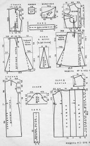 выкройка платья через одно плечо