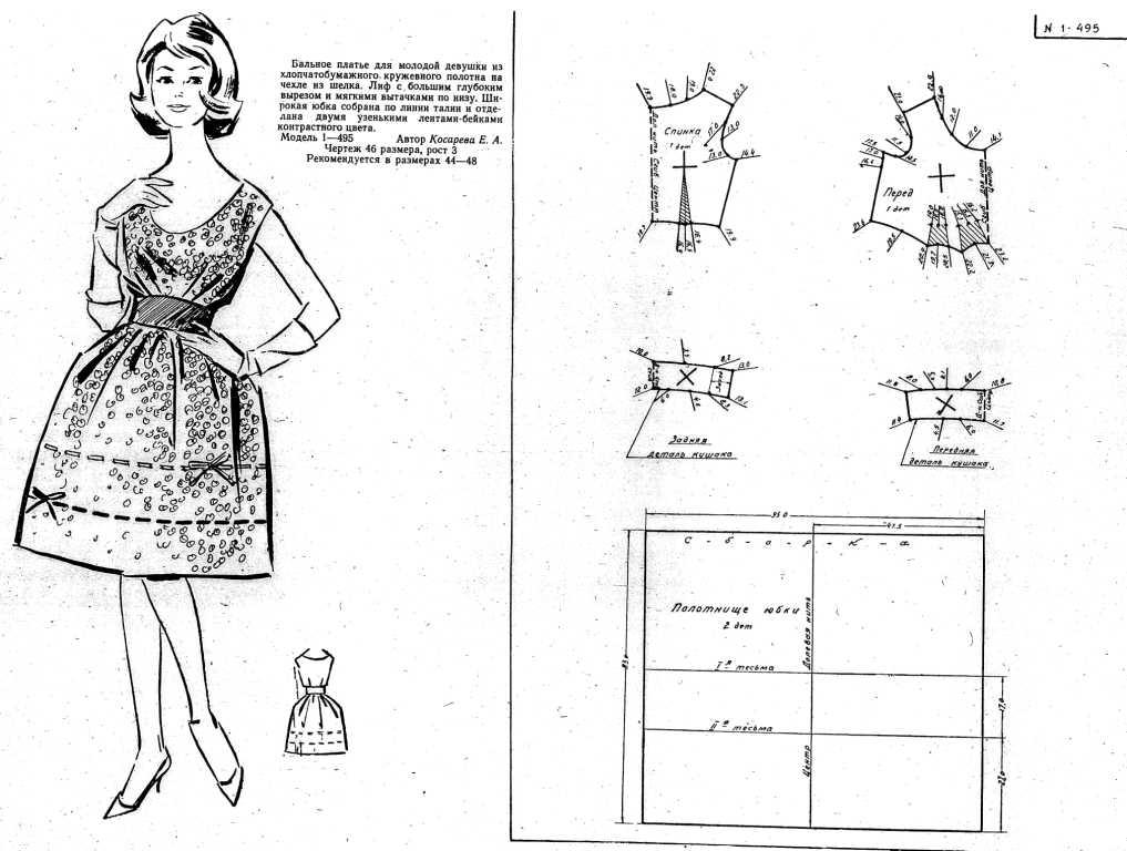 Выкройка для платья с юбкой татьянка