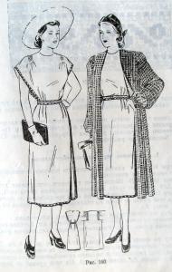 Пальто рекомендуется шить из шелкового эпонжа в мелкую клетку или однотонного.  Платье рекомендуется шить из из...