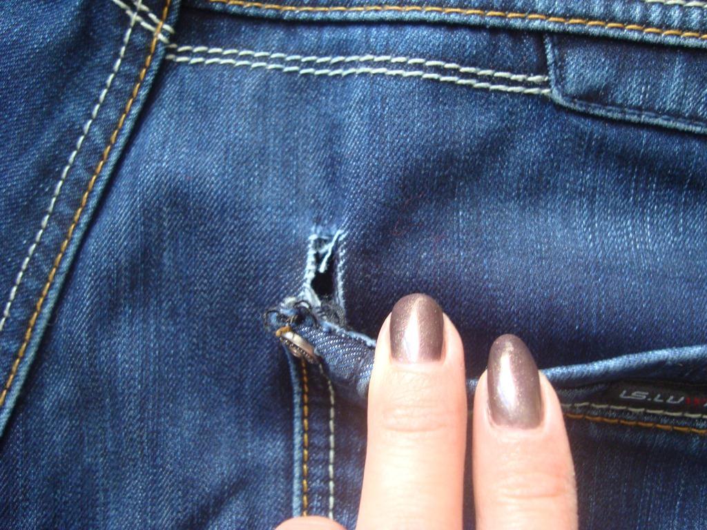 порвались джинсы между ног что делать