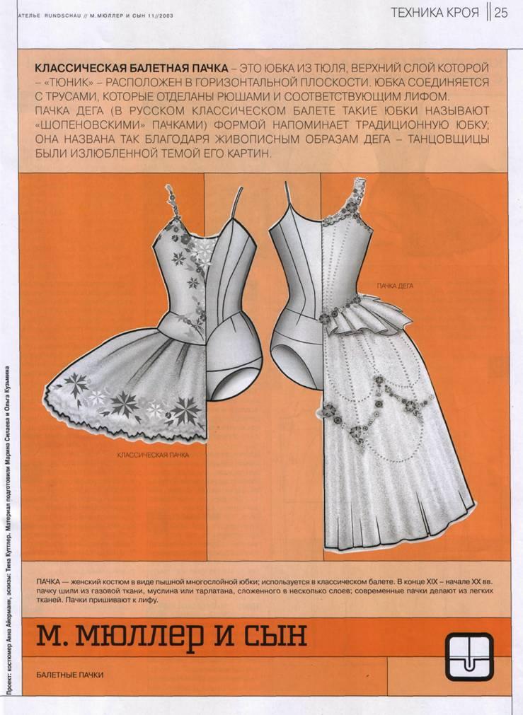 выкройка юбки с запахом для балета