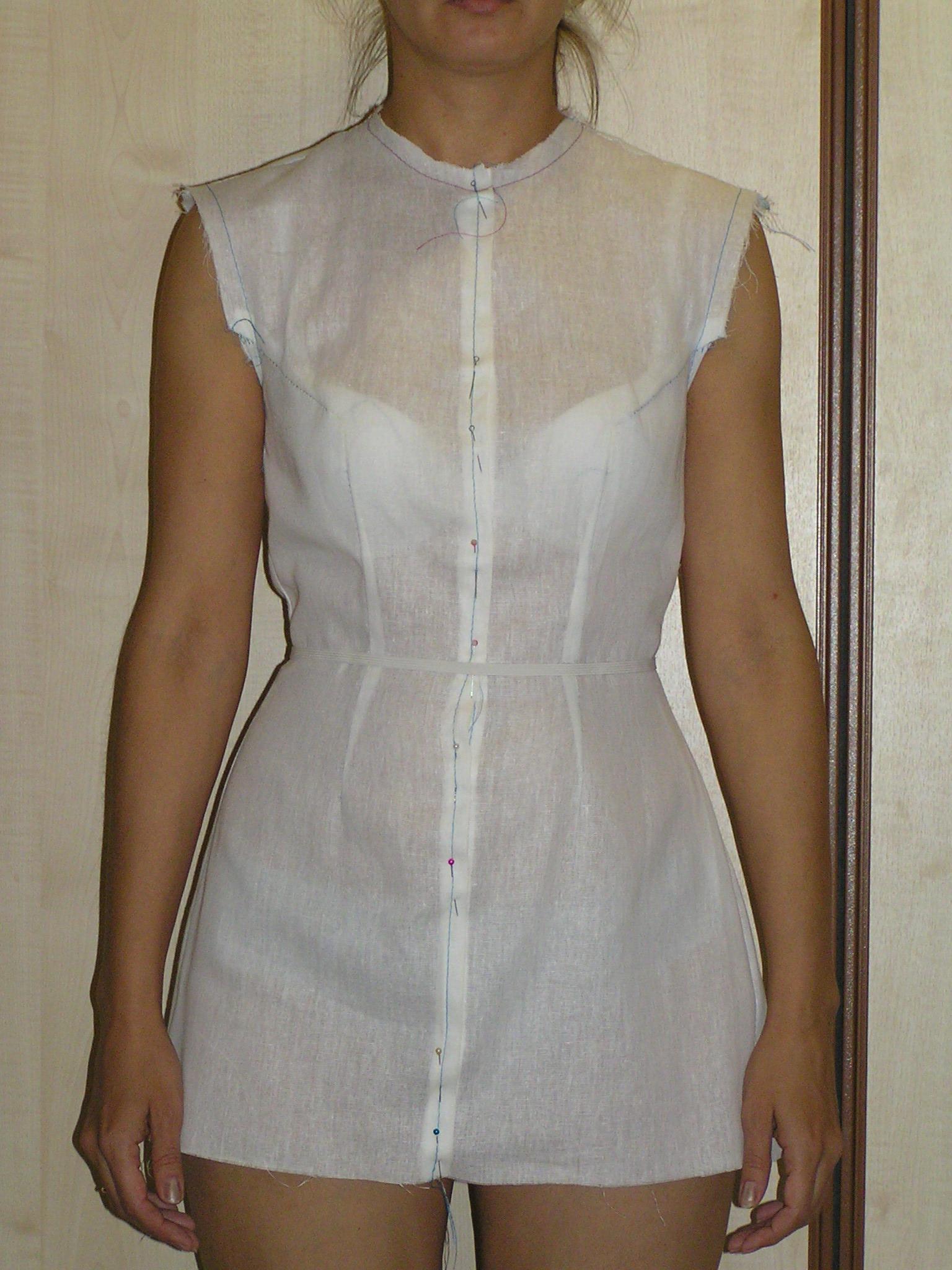 Как на платье сделать вытачки на спине платья 285