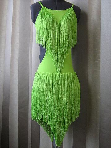 Фото платьев латина с бахромой