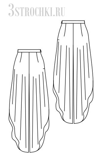 Выкройка юбка бриджи