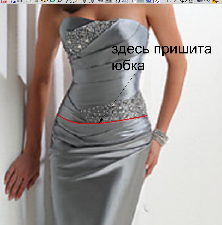 Складки на животе на платье