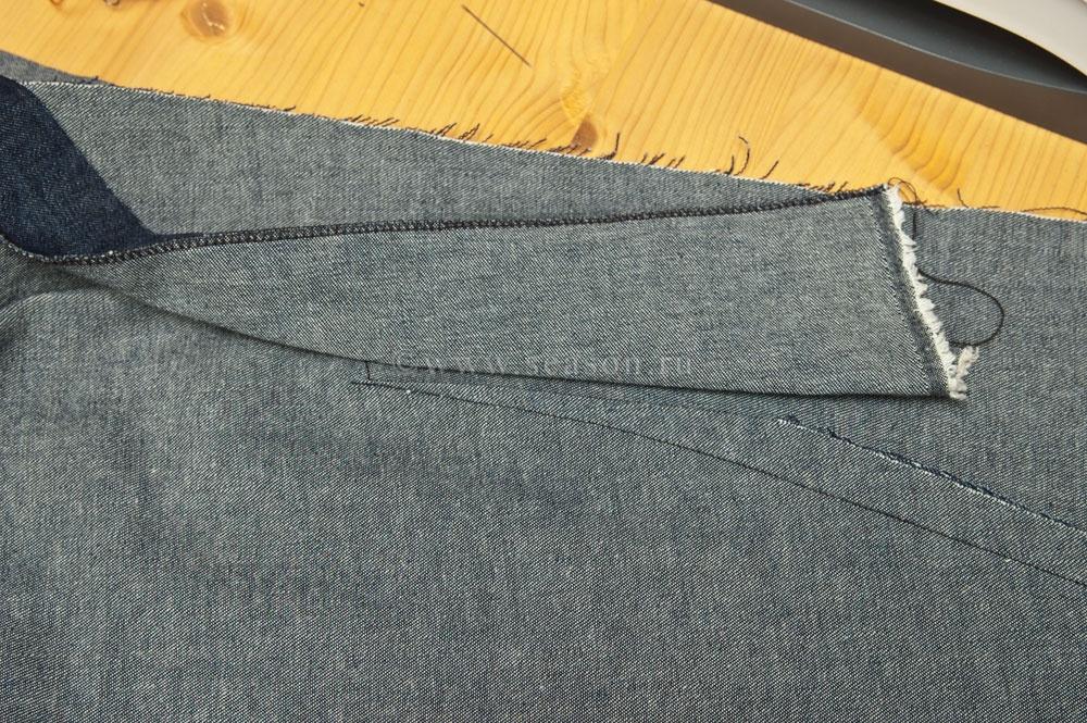 Как загладить вытачки на юбке