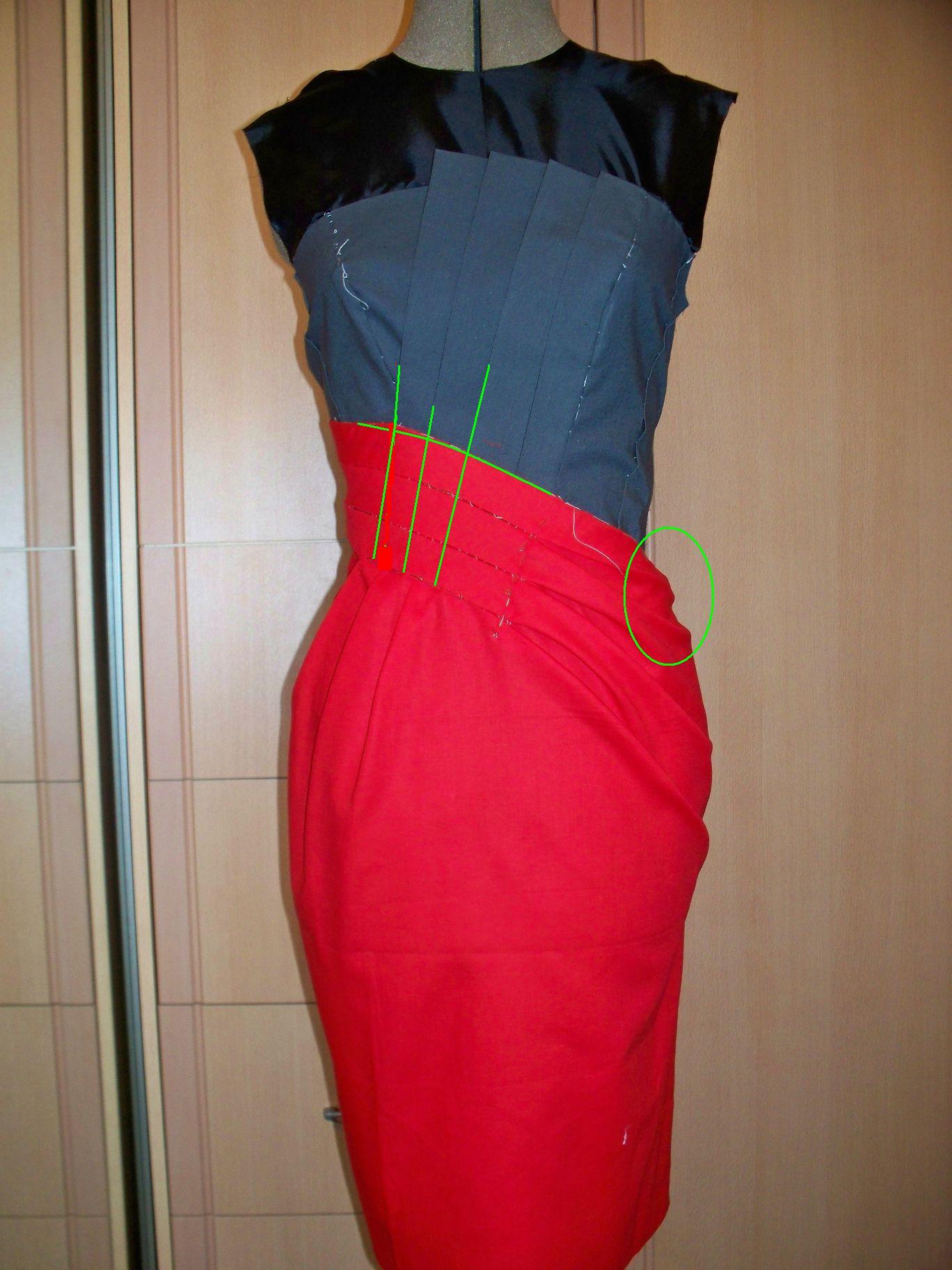 Как сделать складки на лифе