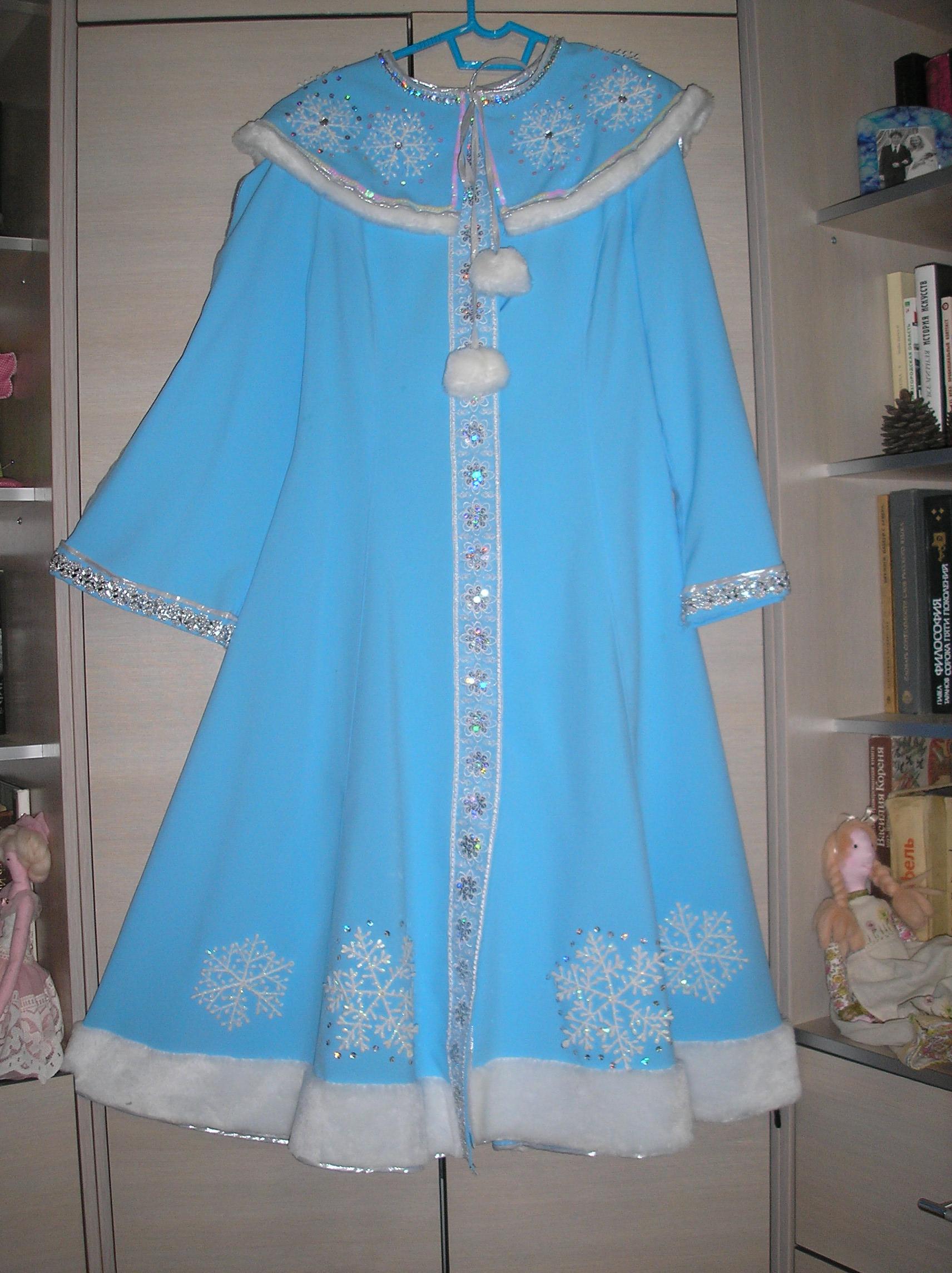 Платье снегурочки сшить своими руками