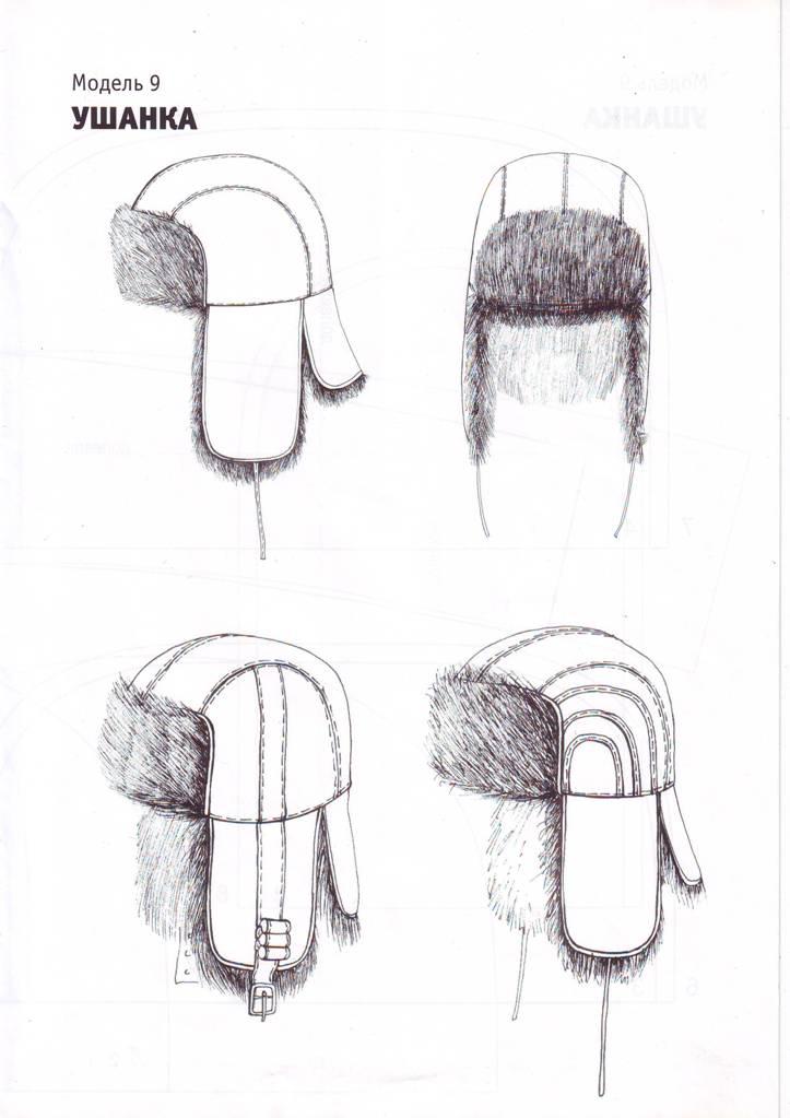 Выкройка мужской шапки ушанки своими руками
