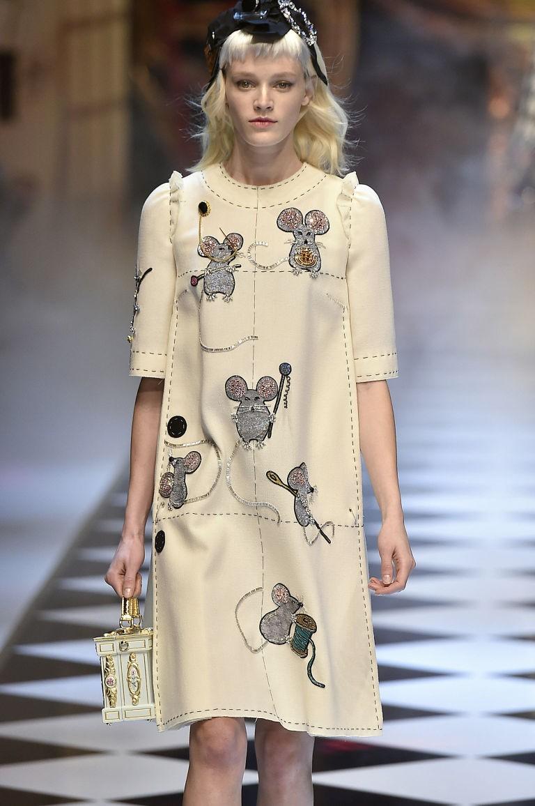 Платье дольче габбана мышки