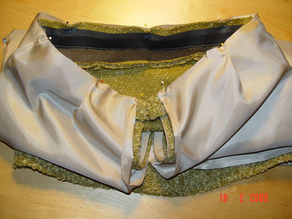 схема обтачки пояса