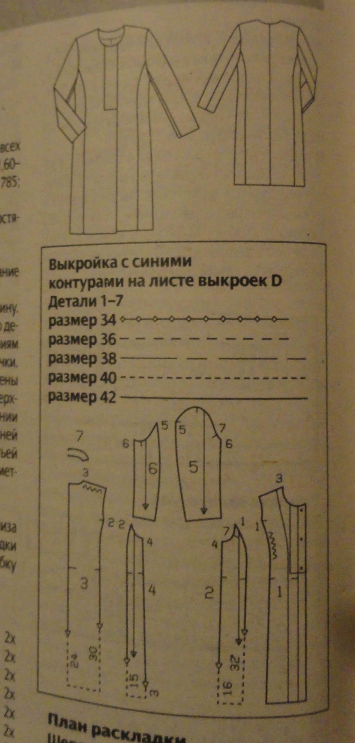Выкройки пальто демисезонного
