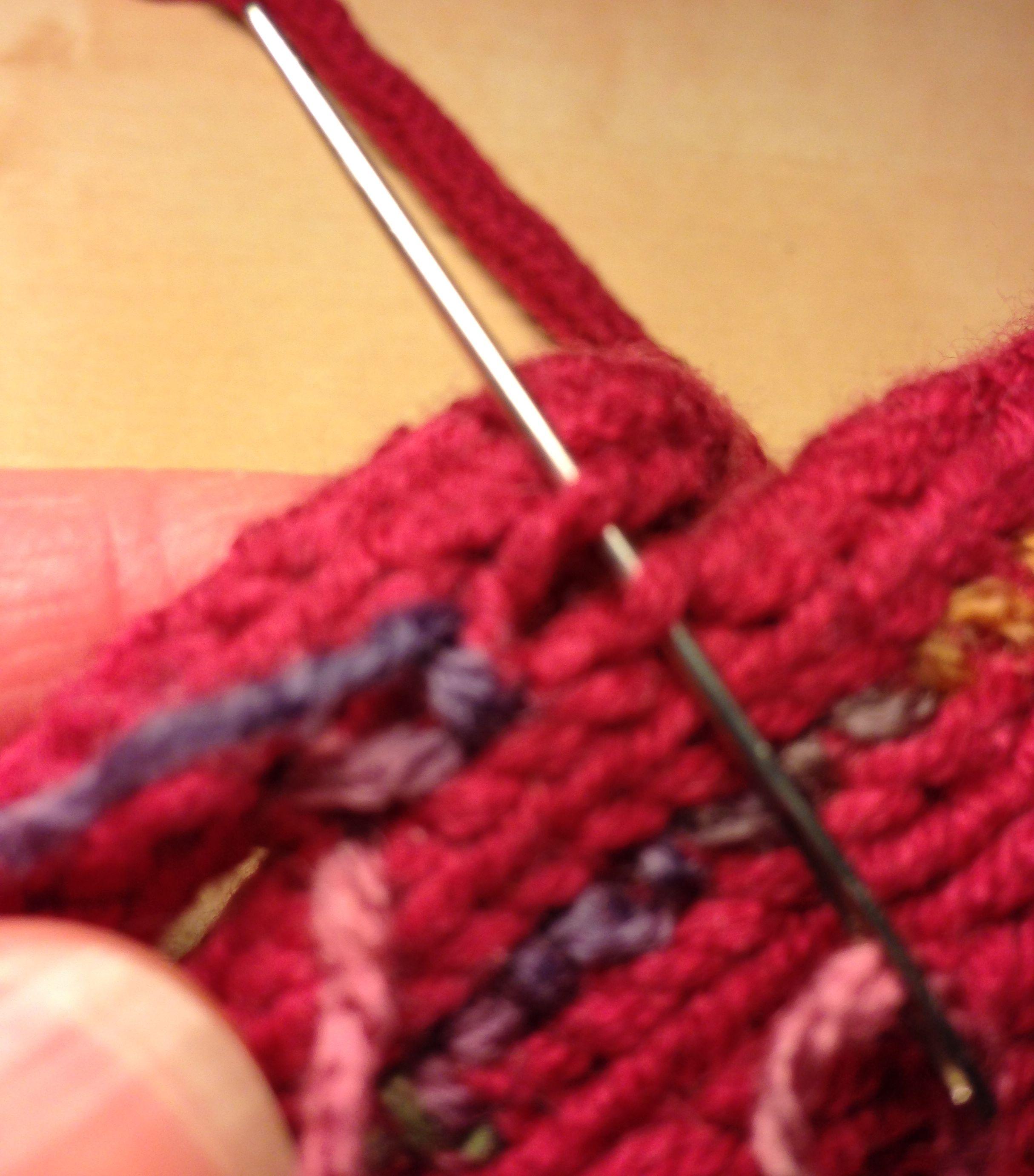 тунисское вязание вязание длинным крючком