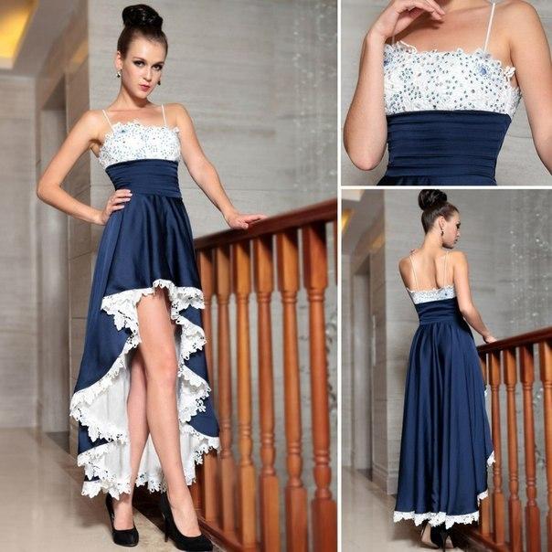 Как сшить платье удлиненное сзади