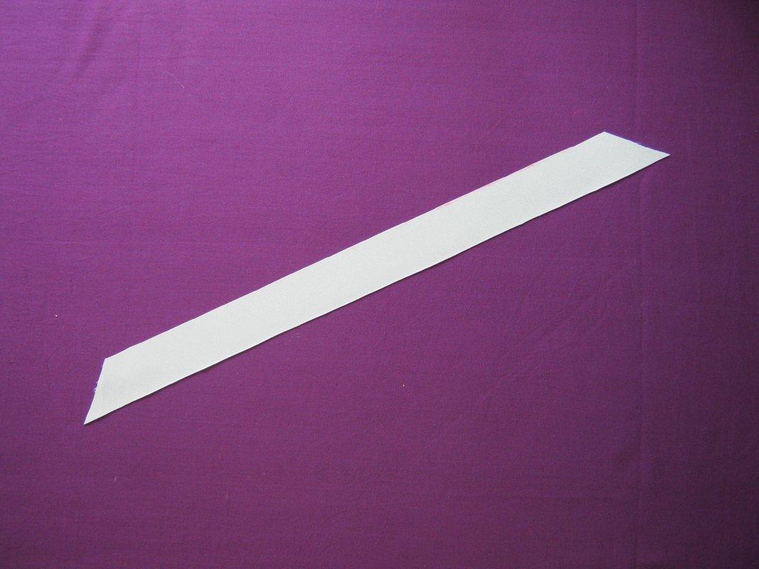 схема цельнокроенную планку в вязании