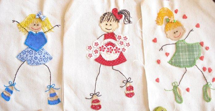 Аппликации детям из ткани своими руками
