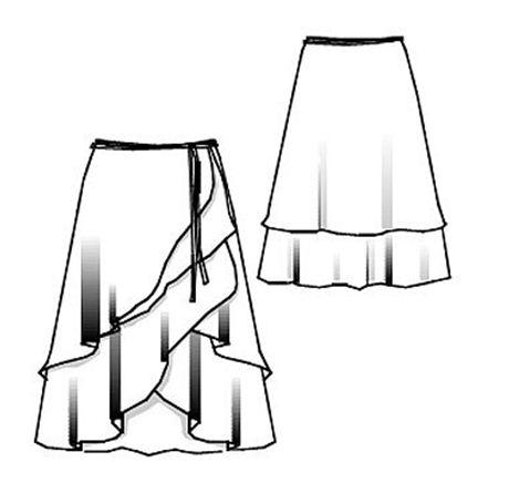 Ярусная юбка с запахом