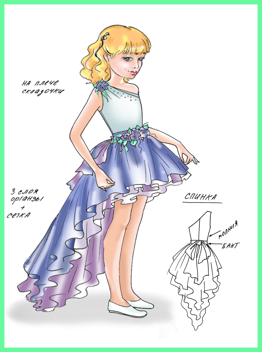 Платье для девочки 10 лет на выпускной сшить своими руками 88