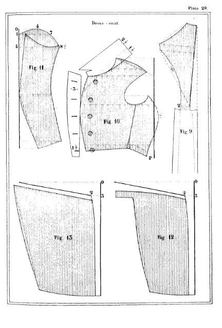 Фрак выкройка 19 век