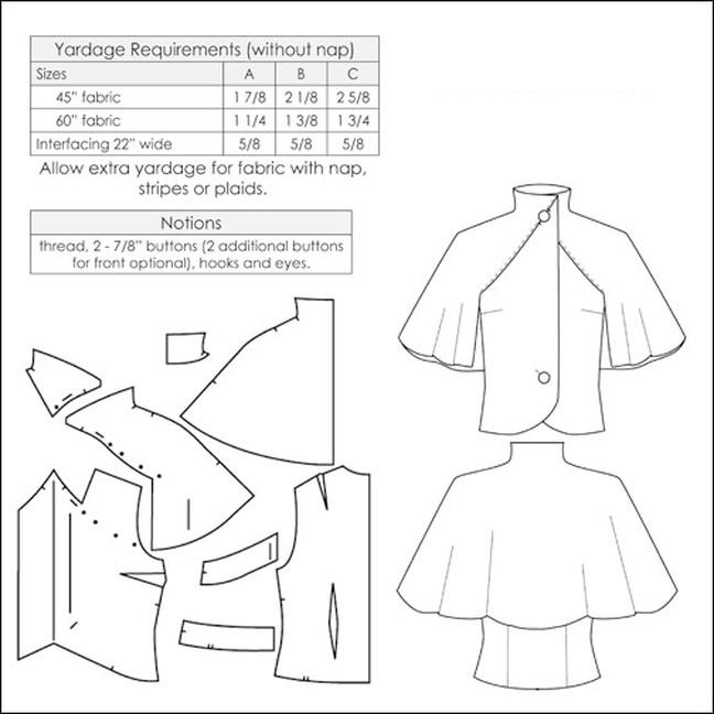 Выкройки платья с накидкой