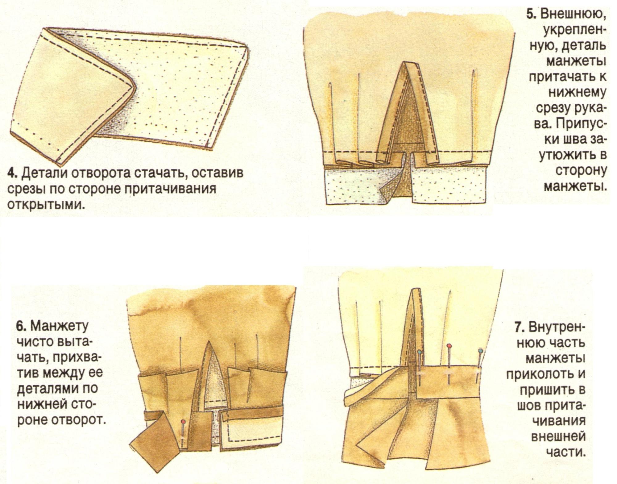Как сшить рукав рубашки